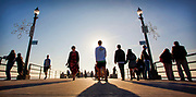 Tourists Walking on The Huntington Beach Pier In December