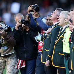 CAPE TOWN, SOUTH AFRICA - SEPTEMBER 27: GV of Heyneke Meyer (Head Coach) of South Africa during The Castle Rugby Championship match between South Africa and Australia at DHL Newlands on September 27, 2014 in Cape Town, South Africa. (Photo by Steve Haag/Gallo Images)