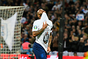 Goal - Raheem Sterling of England celebrates scoring a goal to give a 3-0 lead to the home team reavealing a t-shirt with the name Mary Dawkins during the UEFA European 2020 Qualifier match between England and Czech Republic at Wembley Stadium, London, England on 22 March 2019.