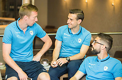 Robert Beric, Boban Jovic and Miha Mevlja at Slovenia team gathering before friendly football match against National teams of Sweden and Turkey, on May 23, 2016 in Hotel Kokra, Brdo pri Kranju, Slovenia. Photo by Vid Ponikvar / Sportida