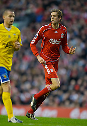 LIVERPOOL, ENGLAND - Saturday, January 26, 2008: Liverpool's .Peter Crouch in action against Havant and Waterlooville during the FA Cup 4th Round match at Anfield. (Photo by David Rawcliffe/Propaganda)