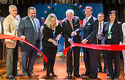 Lisa Hernandez and former governor Mark White cut the ribbon during a dedication ceremony at Mark White Elementary School, December 13, 2016.