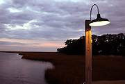 A lamp post lights the private dock Wednesday Janurary 5, 2005 that overlooks the marsh behind the Greyfield Inn on Cumberland Island, Georgia. Built in 1900, the grand mansion was the home of Margaret Ricketson, the daughter of Thomas Carnegie of Pittsburgh. In 1962, Margaret's daughter, Lucy R. Ferguson, opened Greyfield as an intimate luxury inn. (Stephen Morton for the New York Times)