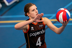 26-10-2019 NED: Talentteam Papendal - Sliedrecht Sport, Ede<br /> Round 4 of Eredivisie volleyball - Hyke Lijklema #4 of Talent Team