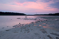 Twilight over Fossil Beds and Ohio River, The Falls of the Ohio State Park, Indiana