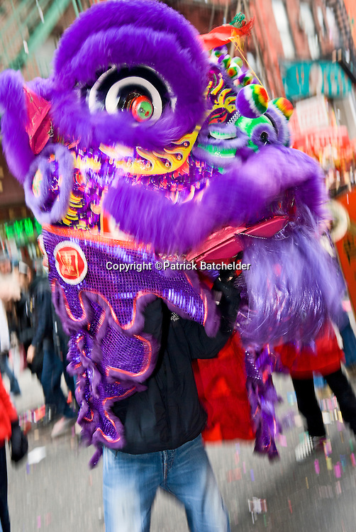 The Chinese New Year is celebrated in New York City's Chinatown neighborhood.