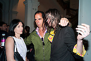 SUSIE CAVE; NICK CAVE; JEFRO CAVE, Daydreaming with ... James Lavelle. Haunch of Venison. London. 26 August 2010. -DO NOT ARCHIVE-© Copyright Photograph by Dafydd Jones. 248 Clapham Rd. London SW9 0PZ. Tel 0207 820 0771. www.dafjones.com.