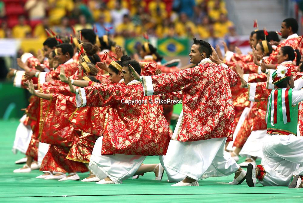 FIFA CONFEDERATIONS CUP BRAZIL 2013 - Brasilia - <br /> Estadio Nacional de Brasilia , Mane Garrincha.<br /> Open Ceremony.<br /> Here Japanese representation.<br /> June 15, 2013<br /> &copy; Gabriel Piko / PikoPress