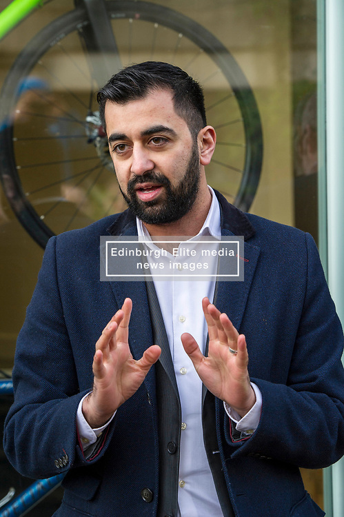 Pictured: Humza Yousef<br /> Transport minister Humza Yousaf MSP opened Falkirk's active travel hub. The resource will encourage people to make healthier, greener travel choices. <br /> <br /> <br /> Ger Harley | EEm 6 February 2018