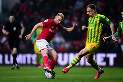 Andreas Weimann of Bristol City is challenged by Kamil Grosicki of West Bromwich Albion - Mandatory by-line: Ryan Hiscott/JMP - 22/02/2020 - FOOTBALL - Ashton Gate - Bristol, England - Bristol City v West Bromwich Albion - Sky Bet Championship