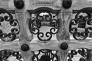 Decorative doorways in Scottys Castle in Death Valley National Park, California, USA