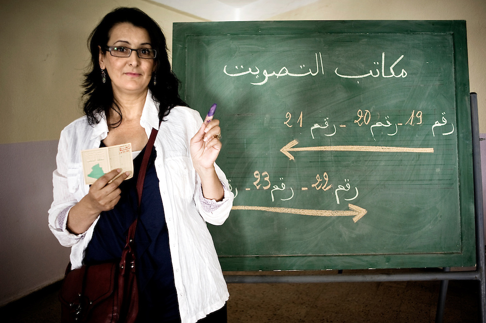 ALgiers 10 May. Nadia Chiouttam elected for the second time at the Parliament in the Labours Party (PT) list. The Labours party is the only one to be run by a woman: Louisa Hanoune, the first woman in Algeria, to be candidate for the Presidential elections in 2004.