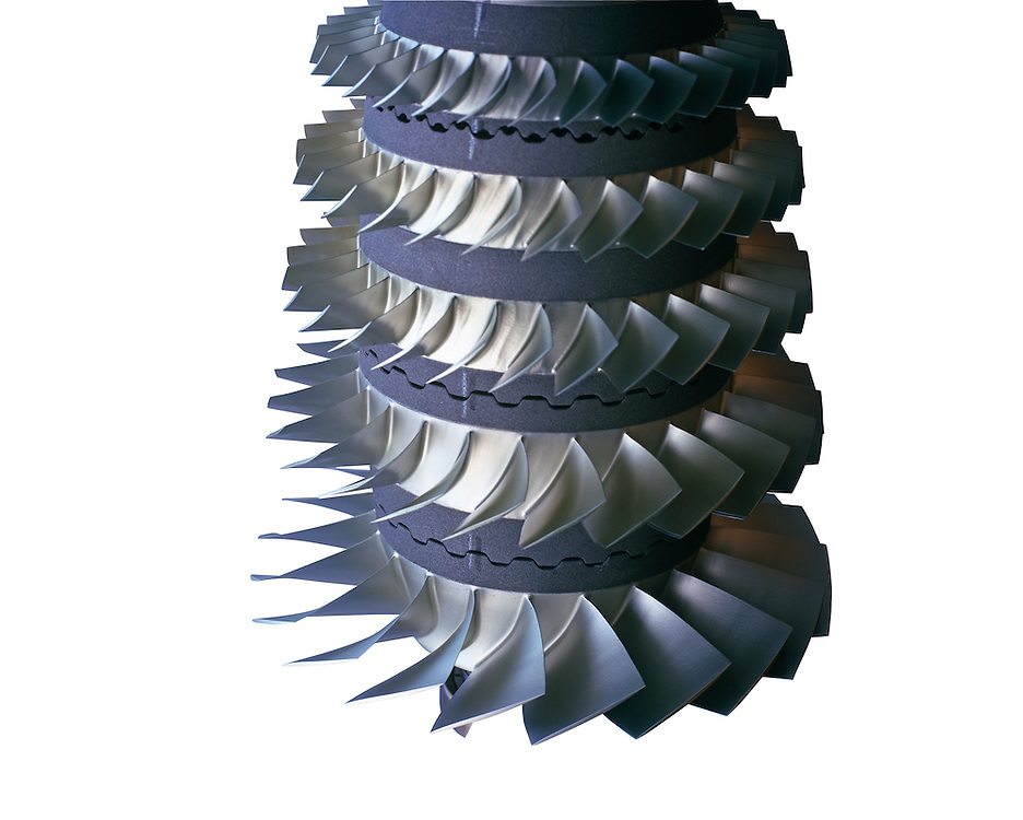 Cut out of large metal fan engine