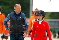 Buhofer Simone, (SUI), trainer Piet Raymackers<br /> Class 16 Nations Cup YR<br /> International Competition CSIO Young Riders Opglabbeek 2016<br /> © Dirk Caremans
