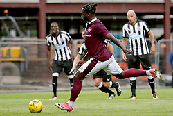 Hearts Esmael Goncalves takes a penalty, and fails to score, during the pre-season friendly at Tynecastle Stadium, Edinburgh.