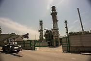 Viggiano, 13/06/2015: impianto H2S di desolforizzazione. ENI Centro Olio, Area Industriale - ENI Energy company Oil Center