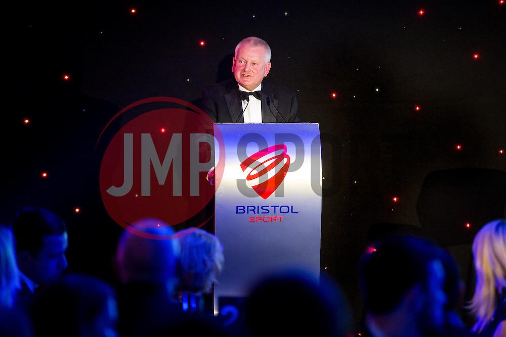 Steve Lansdown speaks at Bristol Sport's Annual Gala Dinner in the Lansdown Restaurant at Ashton Gate Stadium - Rogan Thomson/JMP - 08/12/2016 - SPORT - Ashton Gate Stadium - Bristol, England.