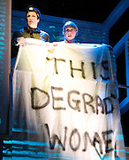 The Awkward Squad<br /> by Karin Young<br /> at The Arts Theatre, London, Great Britain <br /> 7th March 2012 <br /> <br /> directed by Fiona MacPherson <br /> <br /> Barbara Marten (as Lorna)<br /> <br /> Libby Davison (as Pam)<br /> <br /> Lisa McGrillis (as Sarah)<br /> <br /> Charlie Hardwick (as Sandy)<br /> <br /> <br /> Photograph by Elliott Franks