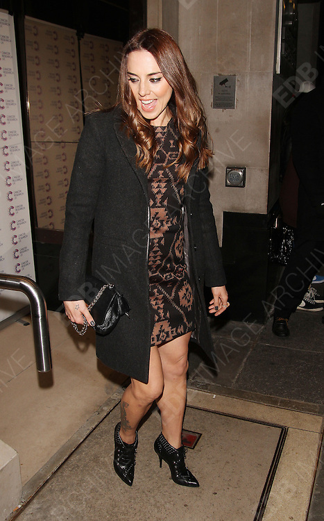 03.MARCH.2013. LONDON<br /> <br /> MELANIE C ATTENDS JAMES JOG-ON TO CANCER FUNDRAISING PARTY AT KENSINGTON ROOF GARDENS.<br /> <br /> BYLINE: EDBIMAGEARCHIVE.CO.UK<br /> <br /> *THIS IMAGE IS STRICTLY FOR UK NEWSPAPERS AND MAGAZINES ONLY*<br /> *FOR WORLD WIDE SALES AND WEB USE PLEASE CONTACT EDBIMAGEARCHIVE - 0208 954 5968*