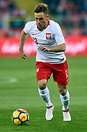 Chorzow, Poland - 2018 March 27: Maciej Rybus from Poland controls the ball while Poland v South Korea International Friendly Soccer match at Stadion Slaski on March 27, 2018 in Chorzow, Poland.<br /> <br /> Mandatory credit:<br /> Photo by © Adam Nurkiewicz / Mediasport<br /> <br /> Adam Nurkiewicz declares that he has no rights to the image of people at the photographs of his authorship.<br /> <br /> Picture also available in RAW (NEF) or TIFF format on special request.<br /> <br /> Any editorial, commercial or promotional use requires written permission from the author of image.
