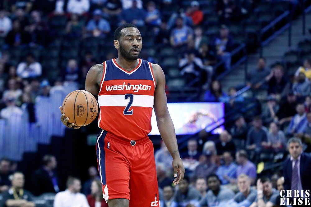 08 March 2017: Washington Wizards guard John Wall (2) brings the ball up court during the Washington Wizards 123-113 victory over the Denver Nuggets, at the Pepsi Center, Denver, Colorado, USA.