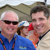 Sean Petty of COO of USA Cycling and Tom Borich, Edward Jones Investment Representative at the start of Stage 5 of the Tour of Missouri in Jefferson City, MO on Saturday, September 15, 2007