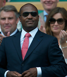 LONDON, ENGLAND - Saturday, June 26, 2010: Brian Lara in the Royal Box on Centre Court on day six of the Wimbledon Lawn Tennis Championships at the All England Lawn Tennis and Croquet Club. (Pic by David Rawcliffe/Propaganda)
