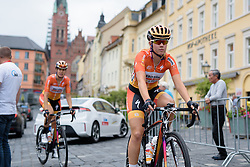 Demi de Jong rolls to sign in at Thüringen Rundfarht 2016 - Stage 3 a 115km road race starting and finishing in Altenburg, Germany on 17th July 2016.
