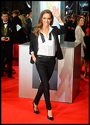 Angelina Jolie And Brad Pitt arrive for the EE BRITISH ACADEMY FILM AWARDS 2014 (BAFTA) at the The Royal Opera House in Covent Garden . London, United Kingdom. Sunday, 16th February 2014. Picture by Andrew Parsons / i-Images