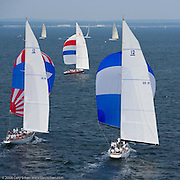 Columbia and Nefertiti racing at the New York Yacht Club Race Week.