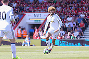 Marouane Fellaini Midfielder of Manchester United during the Premier League match between Bournemouth and Manchester United at the Vitality Stadium, Bournemouth, England on 14 August 2016. Photo by Phil Duncan.
