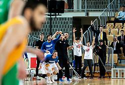 Players of Sixt Primorska reacts during basketball match between KK Sixt Primorska and KK Petrol Olimpija in semifinal of Spar Cup 2018/19, on February 16, 2019 in Arena Bonifika, Koper / Capodistria, Slovenia. Photo by Vid Ponikvar / Sportida