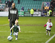 Leigh Griffiths and kids on pitch after match - Hibernian v Dundee - Clydesdale Bank Scottish Premier League at Easter Road.. - © David Young - www.davidyoungphoto.co.uk - email: davidyoungphoto@gmail.com
