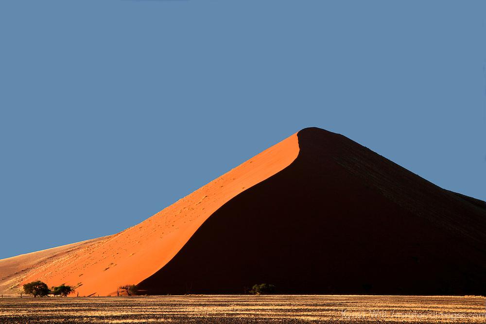 Africa, Namibia, Sossusvlei. Sossusvlei Dunes.