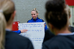 20-11-2019 NED: Pressmoment Handball women, Aalsmeer<br /> Handball women have a final training and press conference before they leave for Japan for the World Cup / Assistent Coach Ekaterina Andryushina of Netherlands