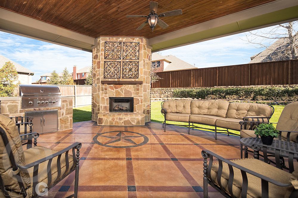 Model Home at The Bluffs at Heritage by Standard Pacific Homes in Fort Worth, Texas.
