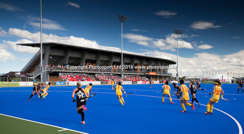 General view of the Unison Turf. Black Sticks Women v China. Festival of Hockey, Hastings, Unison Hockey turf, New Zealand. Sunday, 03 April, 2016. Copyright photo: John Cowpland / www.photosport.nz