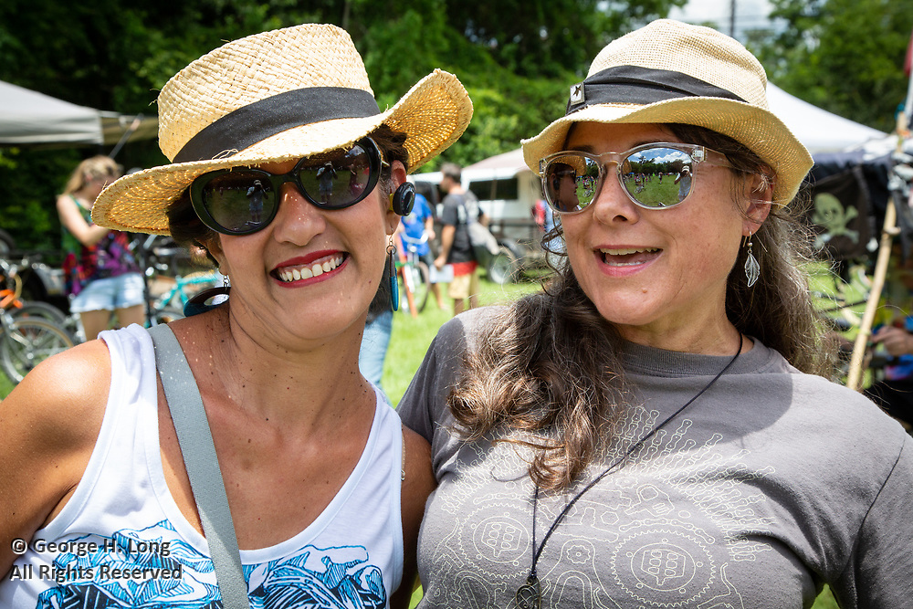Niki Mendow and LeAnn Magee at the Louisiana Bicycle Festival in Abita Springs on June 15, 2019