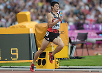 Athletics - 2017 IAAF London World Athletics Championships - Day Nine, Morning Session<br /> <br /> Mens 4 x 400 Relay - Round 1<br /> <br /> Kosuke Horii (Japan) on the last leg at the London Stadium<br /> <br /> COLORSPORT/DANIEL BEARHAM