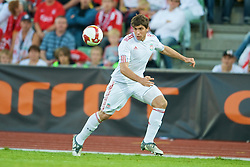 OSLO, NORWAY - Wednesday, August 5, 2009: Liverpool's Emiliano Insua in action against FC Lyn Oslo during a preseason match at the Bislett Stadion. (Pic by David Rawcliffe/Propaganda)