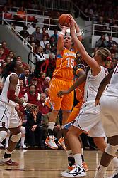 Dec 20, 2011; Stanford CA, USA;  Tennessee Lady Volunteers forward Alicia Manning (15) shoots against the Stanford Cardinal during the first half at Maples Pavilion.  Mandatory Credit: Jason O. Watson-US PRESSWIRE