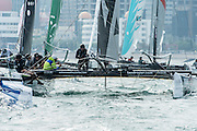 Emirates Team New Zealand on day three of the Land Rover Extreme Sailing Series regatta in Qingdao, China. 3/5/2014