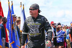 July 29, 2018 - Long Pond, PA, U.S. - LONG POND, PA - JULY 28:   Monster Energy NASCAR Cup Series driver BJ McLeod Jacob Companies Chevrolet (51) during driver introductions prior to the Monster Energy NASCAR Cup Series - 45th Annual Gander Outdoors 400 on July 29, 2018 at Pocono Raceway in Long Pond, PA. (Photo by Rich Graessle/Icon Sportswire) (Credit Image: © Rich Graessle/Icon SMI via ZUMA Press)