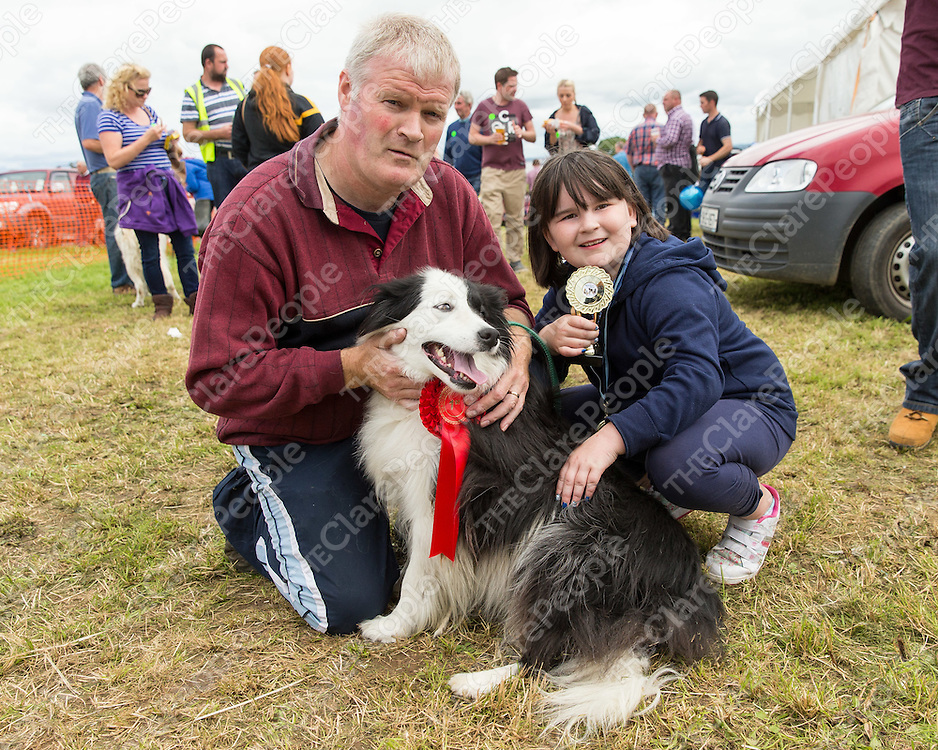 Michael and Robin O'Brien from Kildysart with their prize winning sheep dog Spot