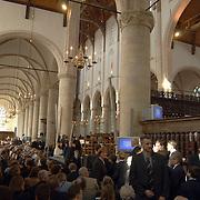 Matthaus Passion 2003, Grote Kerk, gewelven, publiek, ramen