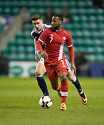 Canada&rsquo;s David Junior Hoilett goes past Scotland&rsquo;s Tom Cairney - Scotland v Canada, friendly international at EasterRoad, Edinburgh.Photo: David Young<br /> <br />  - &copy; David Young - www.davidyoungphoto.co.uk - email: davidyoungphoto@gmail.com