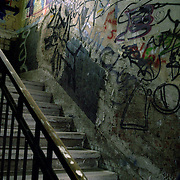 Taschele staircase in Berlin. It used to be just a squat, today it is one of the most visited place to look at artists work. There are still some people that use the place as a home but less and less so.