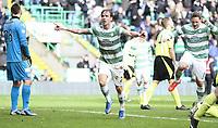 Fotball<br /> Skottland<br /> Foto: imago/Digitalsport<br /> NORWAY ONLY<br /> <br /> 22.03.2014 Glasgow, Scotland. Stefan Johansen celebrates the opening goal during the Scottish Premier Football League game between Celtic and St Mirren from Celtic Park.