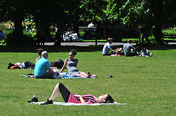 &copy; Licensed to London News Pictures. 22/05/2017<br /> Hot weather in Greenwich Park,Greenwich,London today as the UK looks set to have a heatwave end to May as temperatures rise to 25C.<br /> Photo credit :Grant Falvey/LNP