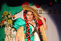 """USA, Chicago, Illinois, September 16, 2009.  Late into the evening and the small hours of the next morning, celebrants of Mexico's Independence Day flocked to Ruben Lechuga's """"La Cueva"""" club to cheer on six candidates for """"Miss Gay Mexico 2009."""" Photographs commissioned by HOY newspaper for a feature story."""